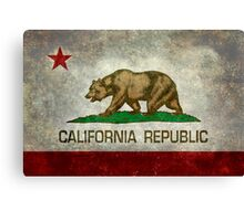California Republic state flag - Vintage retro version Canvas Print