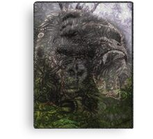Psychedelic Gorilla illusion poster Canvas Print