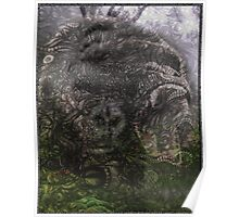 Psychedelic Gorilla illusion poster Poster