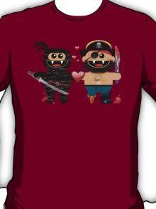 NINJA LOVES PIRATE T-Shirt