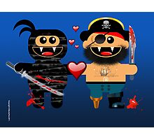 NINJA LOVES PIRATE Photographic Print