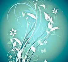 The Butterfly Garden Blue by Fun Kitten Studios