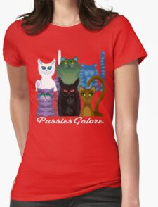 PUSSIES GALORE Womens Fitted T-Shirt