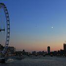 London Eye, Big Ben and Westminster Bridge, London by 3rdeyelens