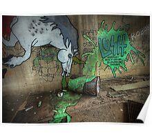 Unicorns Drink Absinthe Too Poster