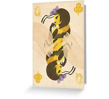 Print: Queen (Bee) of Clubs Greeting Card