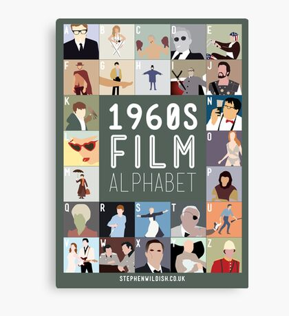 1960s Film Alphabet Canvas Print
