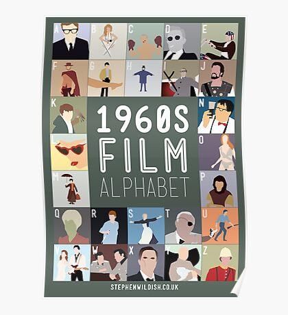 1960s Film Alphabet Poster