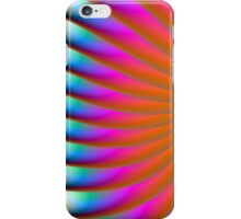 Neon Fan in Orange Pink and Blue iPhone Case/Skin
