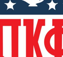 Pi Kapp Football Shield Sticker
