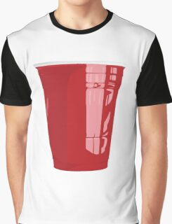 Red Cup Art Beer Pong Graphic T-Shirt