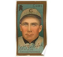 Benjamin K Edwards Collection William A Foxen Chicago Cubs baseball card portrait Poster