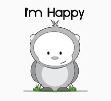 I'm Happy Womens Fitted T-Shirt