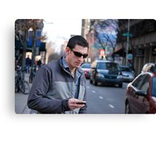texting: Check out the parade Canvas Print