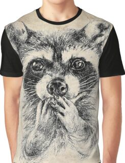 Surprised raccoon Graphic T-Shirt