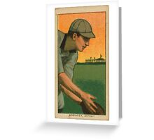 Benjamin K Edwards Collection George Moriarty Detroit Tigers baseball card portrait Greeting Card