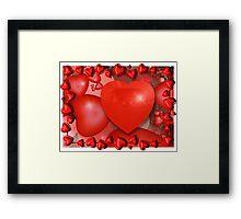 Bubbly Hearts Framed Print