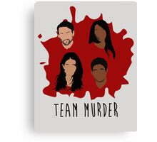 Team Murder Canvas Print