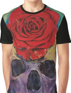 Skull Rose Graphic T-Shirt