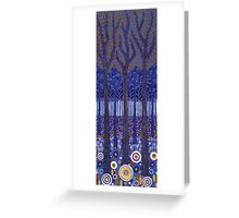 Blue Forest 2 Greeting Card
