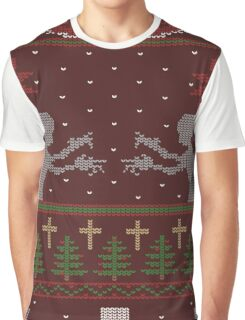 UGLY BUFFY CHRISTMAS SWEATER Graphic T-Shirt