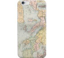 Vintage Map of The Mediterranean Sea (1891) iPhone Case/Skin