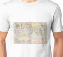 Vintage Map of The Mediterranean Sea (1891) Unisex T-Shirt