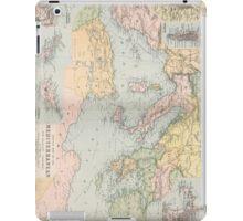 Vintage Map of The Mediterranean Sea (1891) iPad Case/Skin