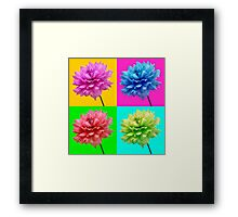 Dahlia Bright Coloured Wall Art Framed Print