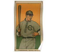 Benjamin K Edwards Collection Heinie Zimmerman Chicago Cubs baseball card portrait Poster