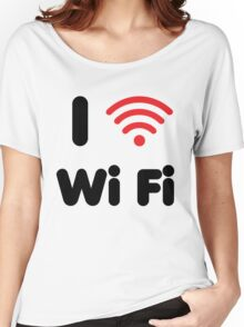 I Heart Wi Fi Women's Relaxed Fit T-Shirt