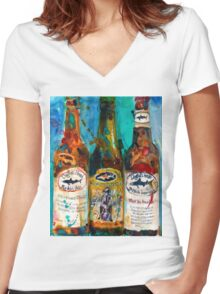 Dogfish Head Brewery Beer Art Print- Raison D'Extra - 90 Minute IPA - Punkin Women's Fitted V-Neck T-Shirt