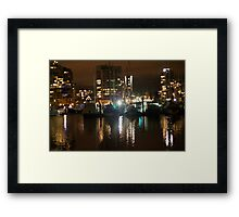 Night city Framed Print