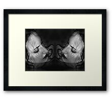 Sea of Pain - Self Portrait Framed Print