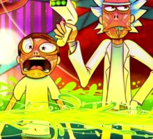 Rick and Morty...Except without skin Sticker