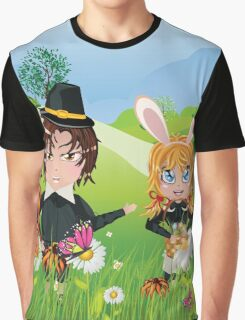 Easter Boy and Girl 3 Graphic T-Shirt