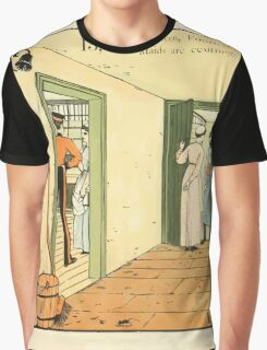 The Buckle My Shoe Picture Book by Walter Crane 1910 23 - Thirteen Fourteen Maids are Courting Graphic T-Shirt