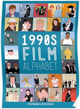 1990's Film Alphabet by Stephen Wildish