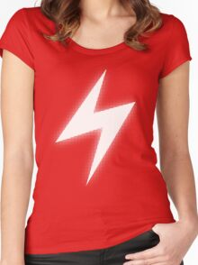 Electric Type (White Glow) Women's Fitted Scoop T-Shirt