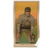 Benjamin K Edwards Collection Joe Tinker Chicago Cubs baseball card portrait 002 Poster