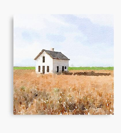 Lonely House Canvas Print