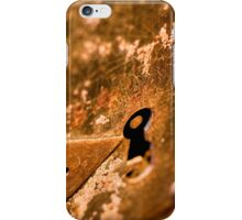 Rusty old lock iPhone Case/Skin