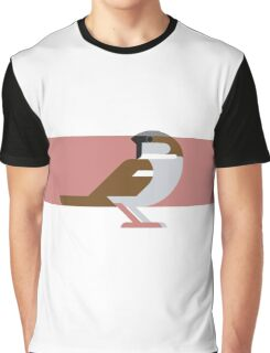 Sparrow geometrical vector illustration Graphic T-Shirt