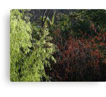 Green And Brown Filigree - Filigrana Verde Y Cafe Canvas Print
