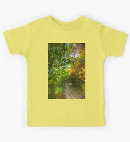 The Autumnal Forest Path  Kids Tee