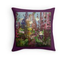 spring colour burst multitude floral art Throw Pillow