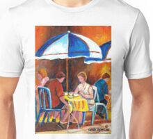 BRUNCH AT THE RITZ PARIS STYLE OUTDOOR CAFE  Unisex T-Shirt