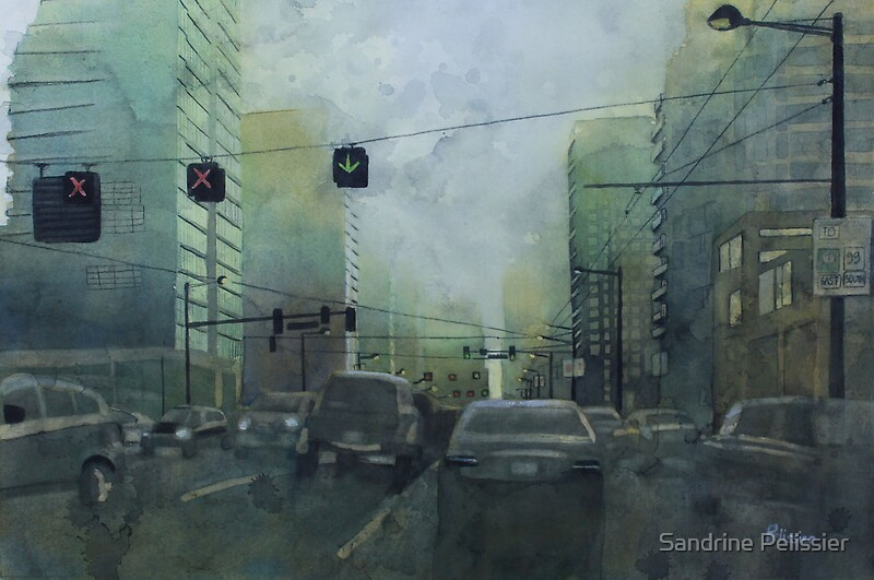 Early this morning by sandrine pelissier redbubble for Creative watercolor painting techniques