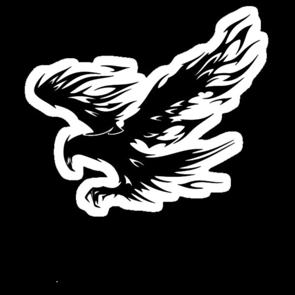 Flaming Tribal Eagle by Tony  Bazidlo