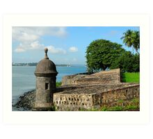 Old San Juan Gun Turret Art Print